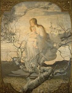 Giovanni Segantini, L'angelo della vita, 1894, olio su tela, 276×212 cm Milano, Galleria d'Arte Moderna