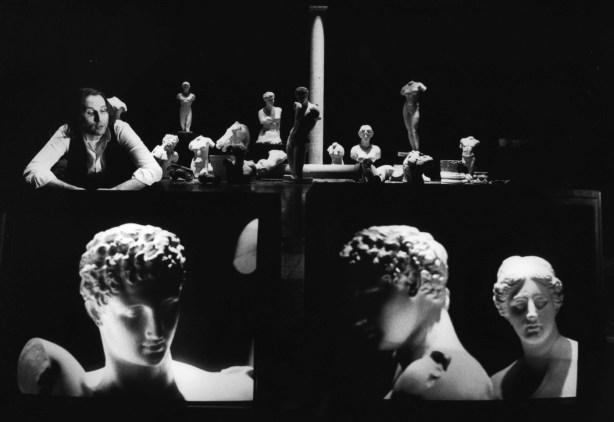 STUDIO AZZURRO, Delfi (studio per suono, voce, video e buio) Spettacolo 1990 Parma, Festival Teatro 2