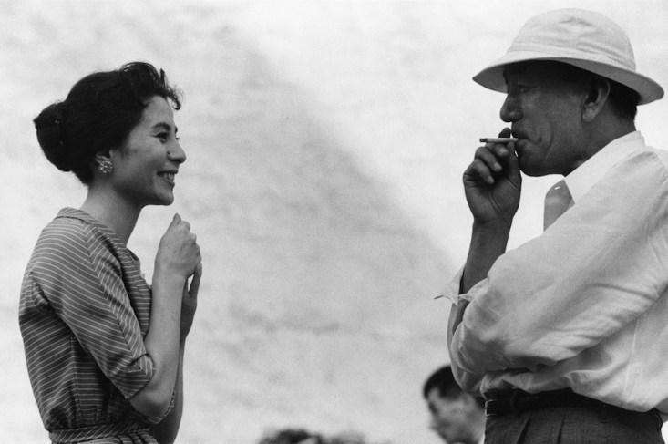 Domon Ken, Kuga Yoshiko (attrice) e Ozu Yasujirō (regista), 1958, 457×560, Ken Domon Museum of Photography