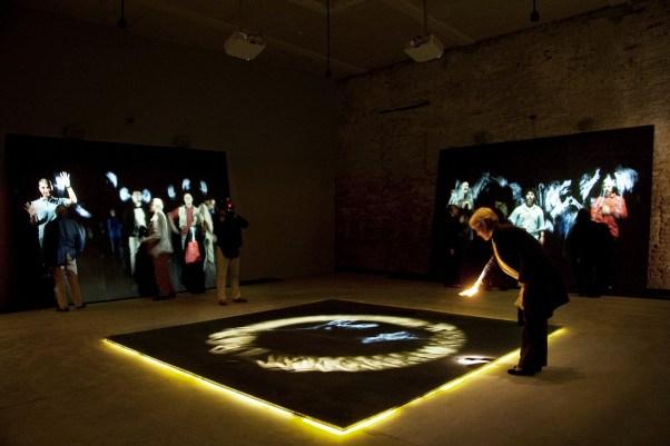 STUDIO AZZURRO, In Principio (e poi) Videoinstallazione interattiva in quattro parti (Portatori di Storie) 2013 Venezia, Padiglione della Santa Sede, Arsenale, 55.ma Esposizione Internazionale d'Arte Biennale