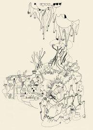 Rebecca Agnes, Untitled, 190x140cm, punto erba su cotone, 2016. Courtesy Davide Gallo Arte Contemporanea