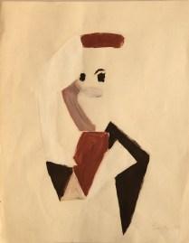 Leoncillo Leonardi, Figura astratta, 1949 tempera 35x44. Courtesy Galleria Arteelite