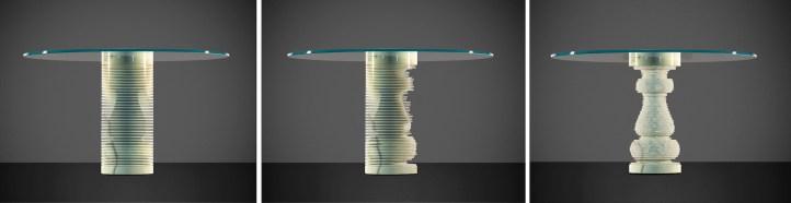 Paolo Ulian, Introverso, tavolo, Carrara Design Factory 2015
