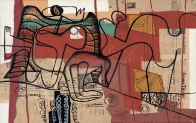 Le Corbusier, Je rêvais, 1963, collage, carta da giornale, gouache su cartone, 92.5x147.5 cm, Collezione Annette e Peter Nobel