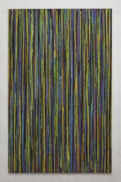Luca Macauda, Nella Valle dell'Anapo, pastello morbido su tela, 190x120 cm