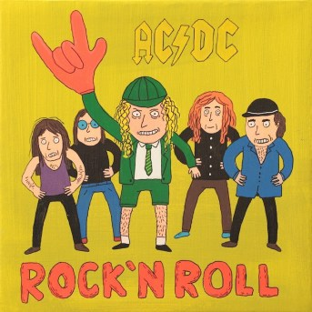 Laurina Paperina, ACDC, 2012, mixed on canvas, 30x30 cm