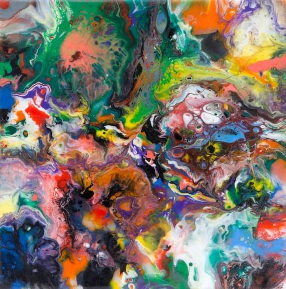 Davide Nido, Magmatic 1, 2012, colle su tela, 30x30 cm Courtesy Galleria Blu, Milano