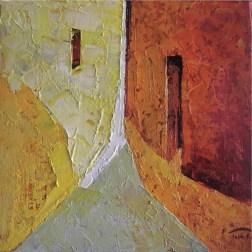 Tomàs Martínez Suñol, Tarda, 2016, olio su tela 15x15 cm