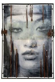 Vitaliano, Wa 01.016, 2016, pittura e materiale, integrazione e sviluppo, 150x100 cm