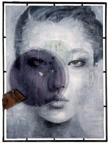 Vitaliano, Wa 04.016, 2016, pittura e materiale, integrazione e sviluppo, 170x158 cm