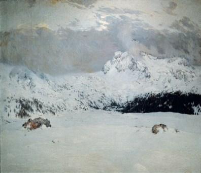 Cesare Maggi, La prima neve, 1907, Roma, Galleria Nazionale d'Arte Moderna e Contemporanea