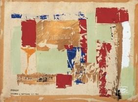 Ezio Gribaudo, Diario di New York, 1961, tecnica mista, 28 x 20cm, Collezione privata, Torino