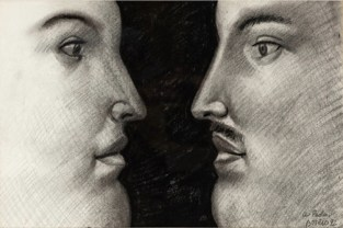 Fernando Botero, Figure, 1992, matita su carta, 45x30 cm