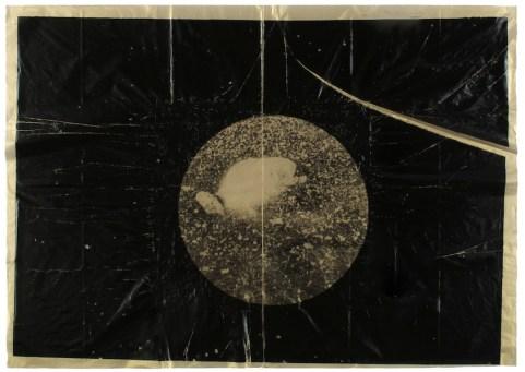 Gianni Moretti, Studi per la biblioteca di ghiaccio e di sale, 2016, xerografia e stampa monotipo su carta velina, 50x70 cm