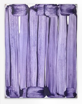 Robert Janitz, The Merry Widow is an Operetta, 2016, olio, cera, farina su lino, 195,6 x 152,4 cm. Courtesy of the artist and Meyer Riegger, Berlin / Karlsruhe © the artist