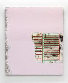 Nicolas Roggy, Untitled, 2016, gesso, pasta modellabile e pigmenti su tavola, 236 x 200 cm. Ph. André Morin. Courtesy Triple VGallery, Paris © the artist
