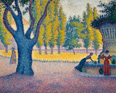 Paul Signac, Saint-Tropez. Fontaine des Lices, 1895, olio su tela, 65x81 cm, Collezione privata Fotografia: Maurice Aeschimann