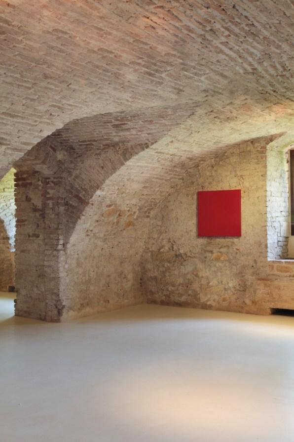 Pino Pinelli, Senza titolo, 1974, acrilico su tela, 70x70 cm, Villa Pisani Bonetti, Bagnolo di Lonigo 2016 Courtesy Associazione Culturale Villa Pisani Contemporary Art Foto Bruno Bani, Milano