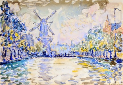 Paul Signac, Rotterdam. Le moulin du canal, 1906, acquerello, 17x24.2 cm, Collezione privata Fotografia: Maurice Aeschimann