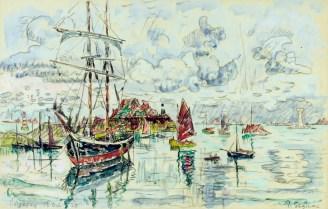 Paul Signac, Loguivy, 13 ottobre 1929, acquerello, 28.5x44.5 cm, Collezione privata Fotografia: Maurice Aeschimann