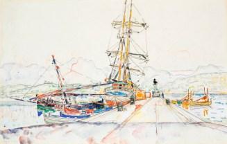 Paul Signac, Ajaccio, 26 maggio 1935, acquerello, 27.6x42.5 cm, Collezione privata Fotografia: Maurice Aeschimann