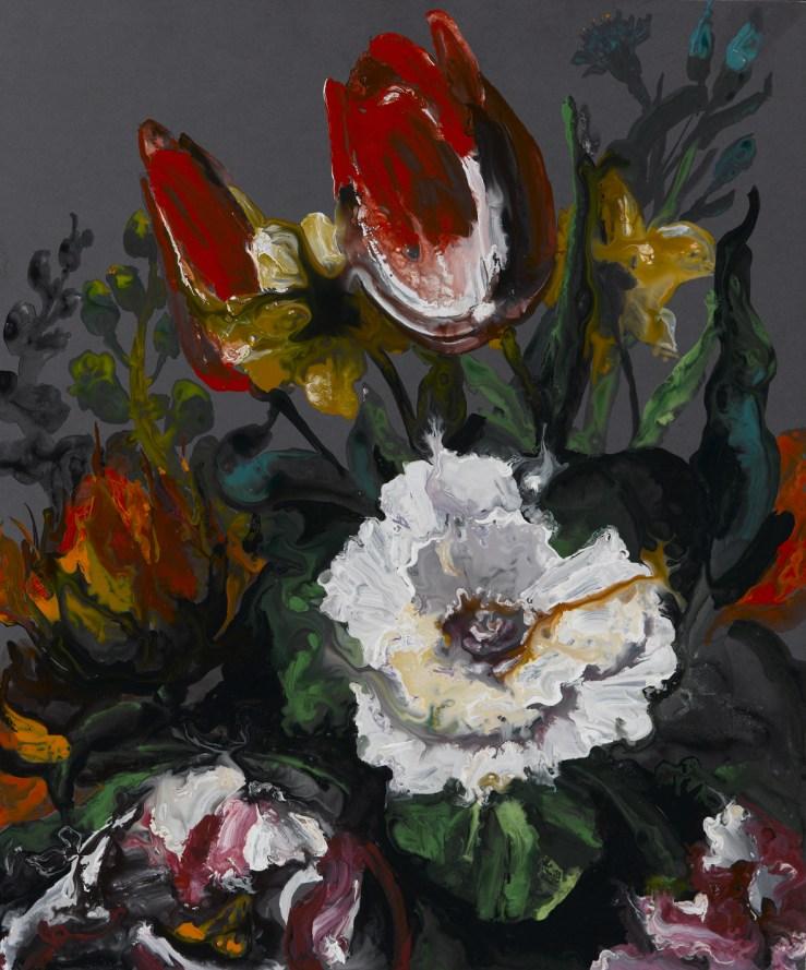 Bonioni Arte - Massimo Pulini, Un bianco sole e basse, basse nubi, 2011, smalto su tavola, cm. 60x50