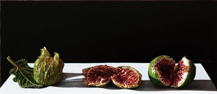 Giuseppe Carta, Germinazioni, 2015-16, olio su tela, cm 17x39