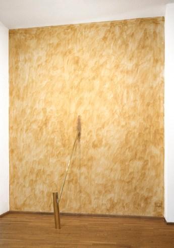 Hidetoshi Nagasawa, Albero di Leda, Varco nel tempo, 1988, ottone e cera vergine, dimensioni variabili