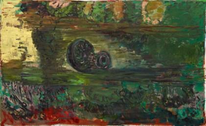 Per Kirkeby, Senza titolo, 2012, olio su tela, 180x295 cm Courtesy Galerie Michael Werner, Berlino