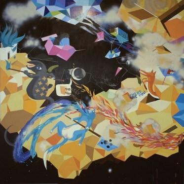 Erik Šille, Where Are You Mostly Harmless, 2009, acrilico su tela