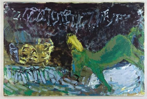 Per Kirkeby, Senza titolo, 2010, tempera su tela, 200x300 cm Courtesy Galerie Michael Werner, Berlino