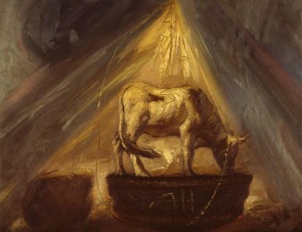Omar Galliani, Agnus Dei, 1985, olio su tela, cm 60x80