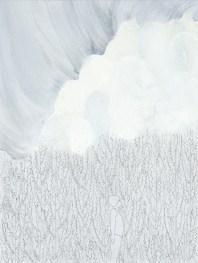 Elisa Bertaglia, Out of the Blue, 2016, olio, carboncino e grafite su carta, 30x23 cm