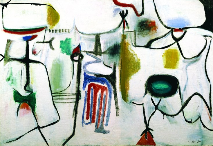 Conrad Marca Relli, Untitled, 1950, oil on canvas, 98.5x140.5 cm. Courtesy Galleria Open Art