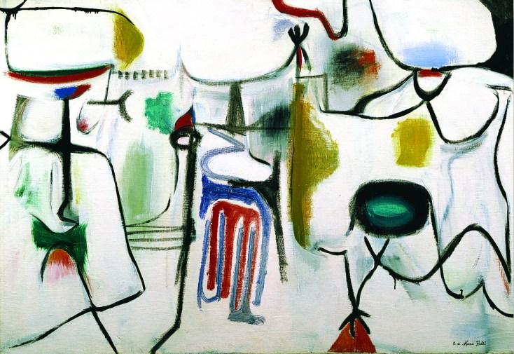 Conrad Marca Relli, Untitled, 1950, oil on canvas, 98.5x140.5 cm. Courtesy Galleria Open Art