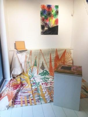 Michael Rotondi, Post-ornamento, Area B, Milano, veduta della mostra.
