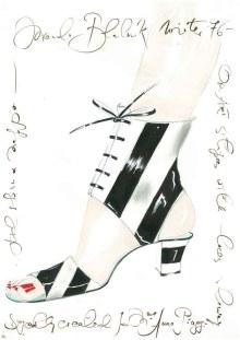Disegno, 1976-77, Piaggi, © Manolo Blahnik