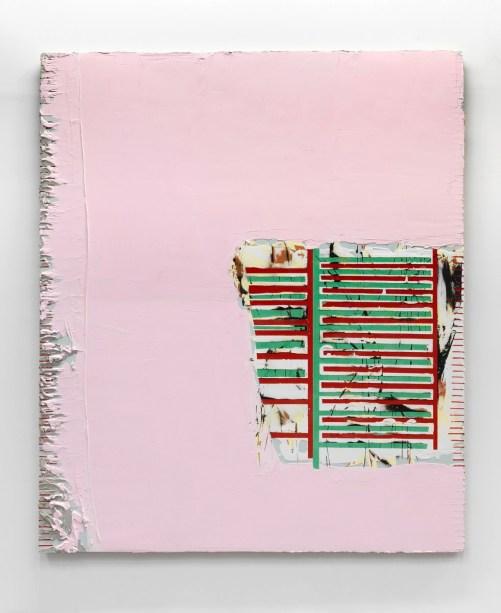 Nicolas Roggy, Untitled, 2016, gesso, pasta modellabile e pigmenti su tavola, 236 x 200 cm, Ph. André Morin, Courtesy Triple V Gallery, Paris, © the artist