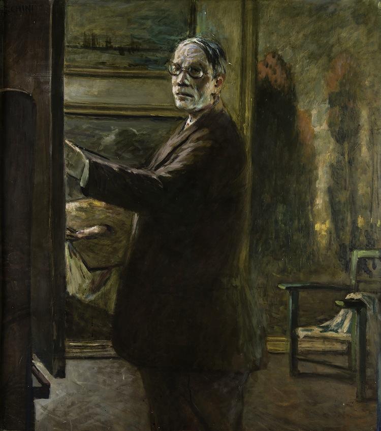 Galileo Chini, Autoritratto allo specchio