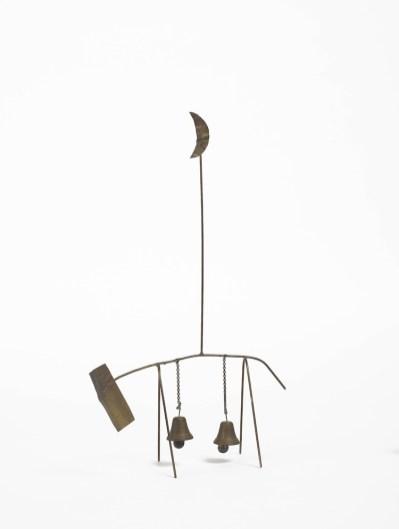 Fausto Melotti, La vacca lunatica, 1961, ottone, 33x9.84x3.35 cm
