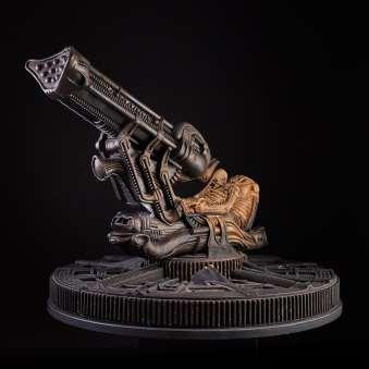 HR Giger_Space Jockey. 1979-2009. Resina e legno. 96x73x94cm. HR Giger Museum