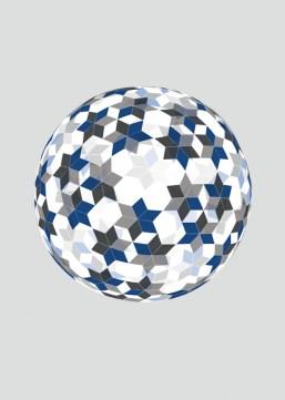Jens W. Beyrich, Blue star universe, 2013, stampa su tessuto, 180x180 cm