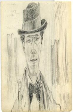 Gino Severini, Autoritratto allo specchio deformato