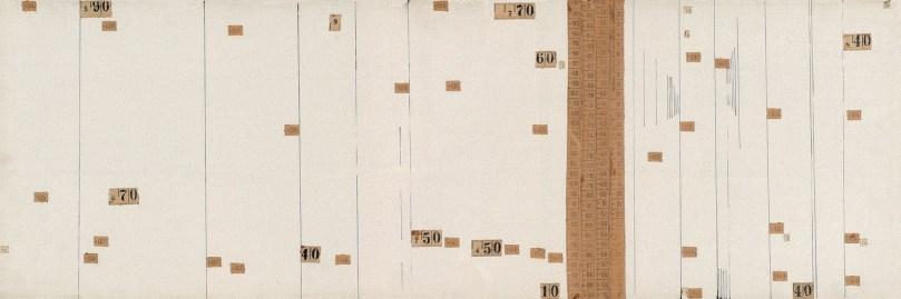 Senza titolo, 1973 Tecnica mista su tela, 60 x 30 cm. Collezione GCM, Torino. Foto: Studio Dario & Carlos Tettamanzi