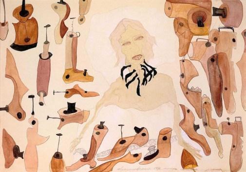 Nonna Carolina, 1936, Acquerello su carta 24 x 35 cm. Proprietà della Fondazione per l'Arte Moderna e Contemporanea-CRT in comodato presso la Galleria d'Arte Moderna e Contemporanea, Torino e presso il Castello di Rivoli Museo d'Arte Contemporanea, Rivoli-Torino. Foto: Roberto Goffi, Torino
