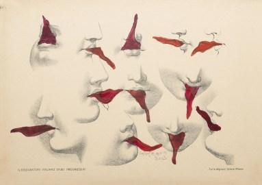 Lusinghe, 2003 Tecnica mista e incisione su carta foderata, 25 x 35 cm Collezione Charles Asprey, Londra. Foto: Andy Keate