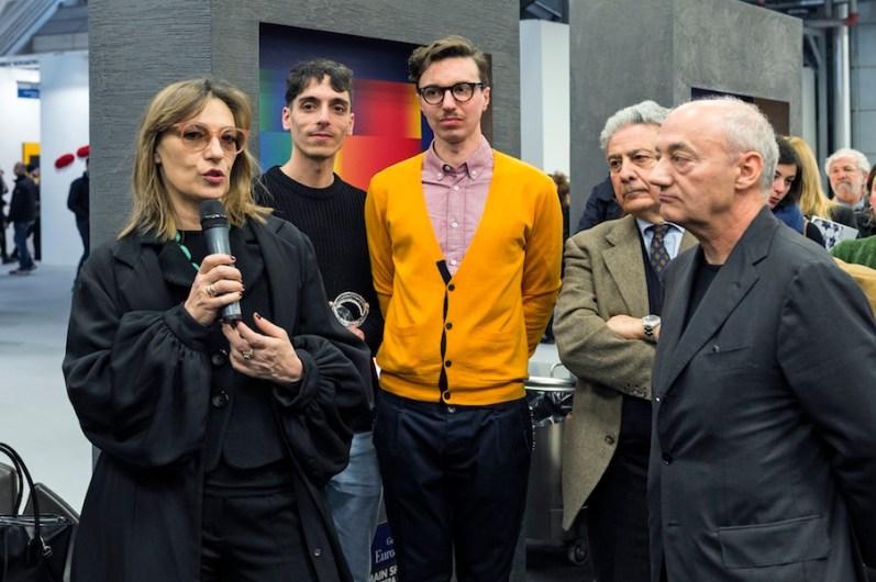 da sinistra: Angela Vettese, The Cool Couple, Aldo Colonetti e Roberto Gobbo, Premio Gruppo Euromobil Under 30, Bologna (premiazione)