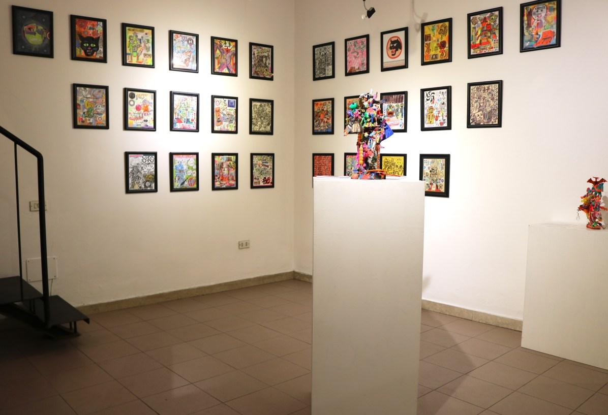 Cellar Contemporary, veduta allestimento mostra Joe Grillo