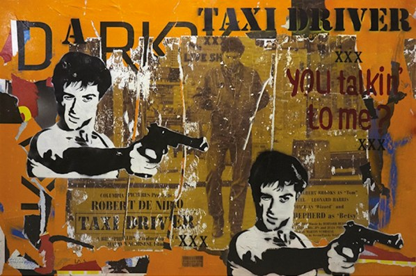 Italiancode, You Talking To Me?, 2016, tecnica mista su tela, 100x150 cm