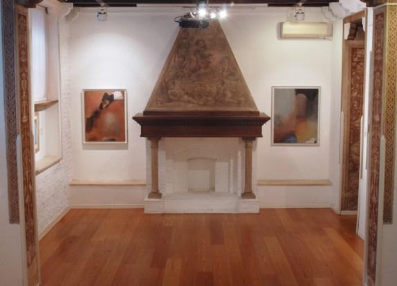 Giuseppe Santomaso. L'astrazione emozionante. L'ultimo grande periodo 1980-1990, veduta della mostra, PoliArt Contemporary, Milano